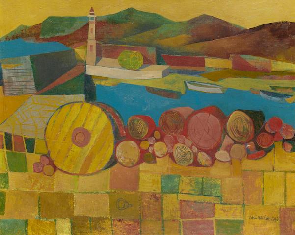 John Minton (British, 1917-1957) 'Corsican Harbour'