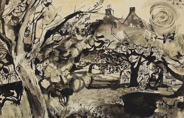 John Minton (British, 1917-1957) Kent Gardens