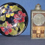 A Troika lamp base and a Moorcroft dish 2