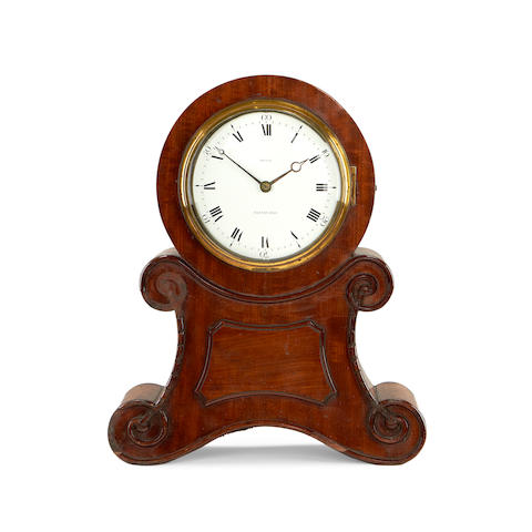 An early 19th century mahogany fusee timepiece by Reid of Edinburgh