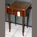 A George IV rosewood work table