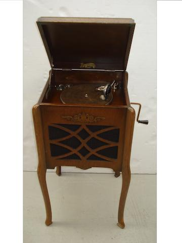 A small Yagerphone re-entrant gramophone,
