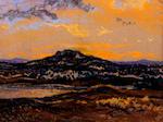 John Fielder (British), (circa 1960's) Snowdonia landscape at dusk