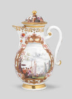 A very rare Meissen tea and coffee service, circa 1726-28