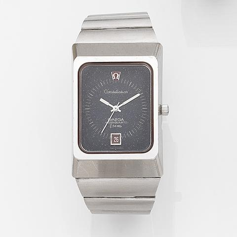Omega. A stainless steel quartz calendar bracelet watch Constellation Megaquartz, Ref:196.0013, Movement No.34912090, Circa 1972