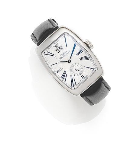 Dubey & Schaldenbrand. A stainless steel automatic calendar wristwatch Aerodyn Date, Ref:ADAT/ST/SIB/LS, Case No.1583, Recent