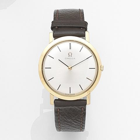 Omega. An 18ct gold manual wind wristwatchCase No.1113022, Movement No.21737323, Circa 1964
