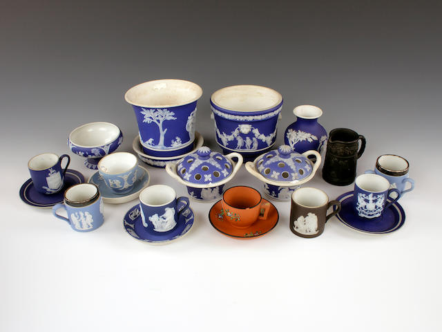 A collection of Wedgwood miniature items, 19th century and later