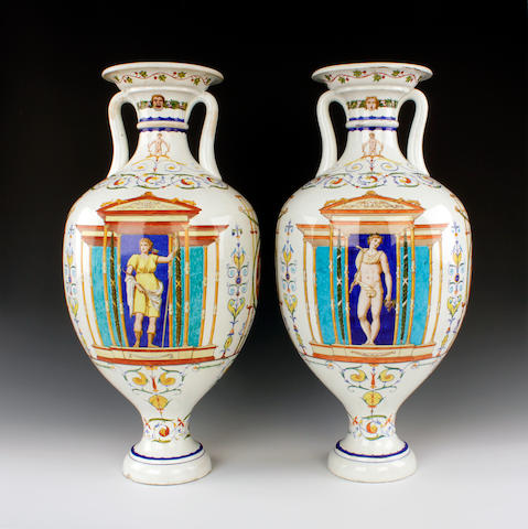 Minton                         Pair of large vases
