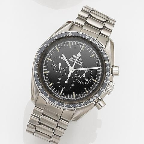 Omega. A stainless steel manual wind chronograph bracelet watch Speedmaster Professional, Ref:145.022, Movement No.35582215, Circa 1972