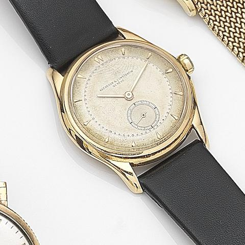 Vacheron & Constantin. An 18ct gold manual wind wristwatch with box and papersCase No.320842, Movement No.488147, Circa 1950