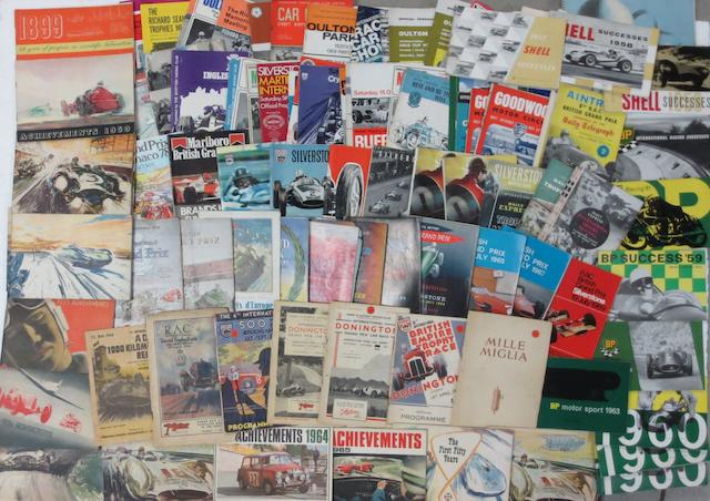 Assorted Grand Prix and other race programmes,