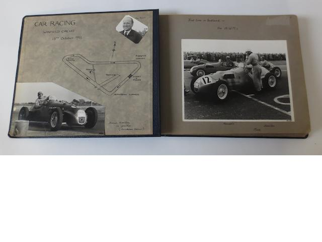 An album of 1951 Winfield Formula 2 race photographs,