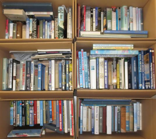 A quantity of aviation books and literature,