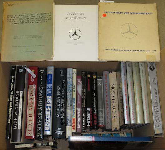 A quantity of books relating to Grand Prix Mercedes-Benz,