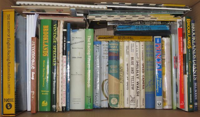 Assorted books and literature relating to ERA and Brooklands racing,