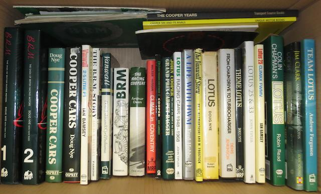 Books relating to post-War British racing marques,