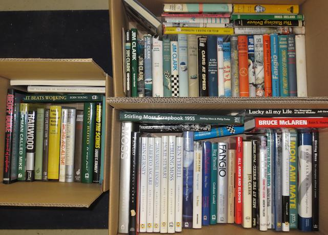 A quantity of post-War racing driver biographies,