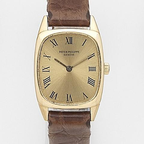 Patek Philippe. A lady's 18ct gold manual wind wristwatchRef:4186, Case No.2743812, Movement No.1266872, Circa 1970