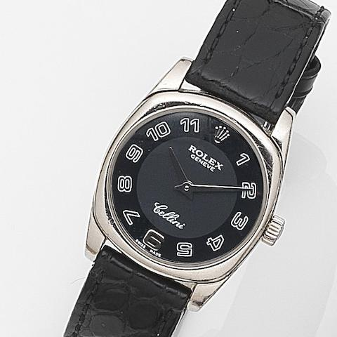 Rolex. An 18ct white gold quartz wristwatch Cellini, Ref:6229, Case No.A67****, Circa 1998