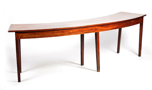 A George III mahogany hunt table