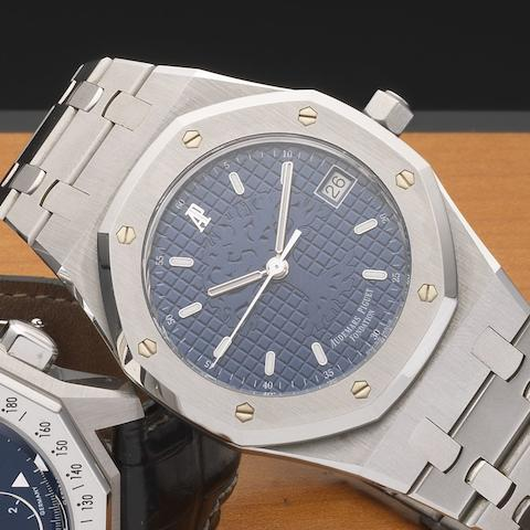 Audemars Piguet. A stainless steel automatic calendar bracelet watchRoyal Oak Time for the Trees Foundation, Ref:15100ST.0.0789ST.01, Case No.E-20055, Circa 1999