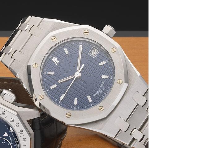 Audemars Piguet. A stainless steel automatic calendar bracelet watch Royal Oak Time for the Trees Foundation, Ref:15100ST.0.0789ST.01, Case No.E-20055, Circa 1999