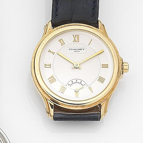 Chaumet. An 18ct gold automatic wristwatch with power reserve indicatorRef:20A-847, Circa 2005