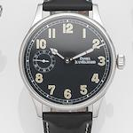 Daniel Jean Richard. A stainless steel manual wind wristwatch Bressel, Case No.035/199, Circa 2010