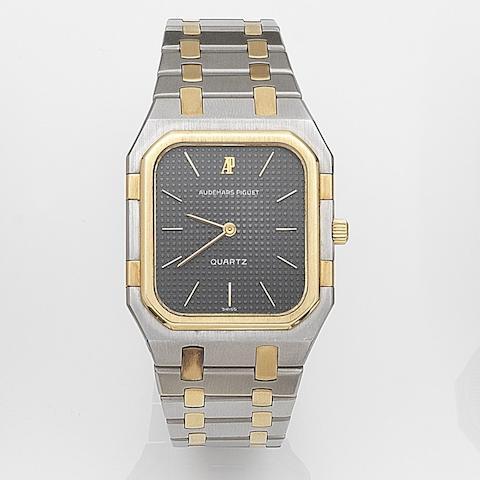 Audemars Piguet. A stainless steel quartz bracelet watchMovement No.225174, Circa 1990