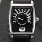 Gerald Genta. A stainless steel automatic retrograde jump hour wristwatch Retro Solo, Ref:RSO.M.10, Case No.99098, Circa 2005