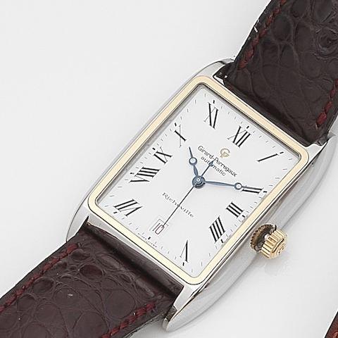 Girard-Perregaux. A stainless steel automatic calendar wristwatch Richeville, Ref:2510, Case No.BR-231, Circa 2000
