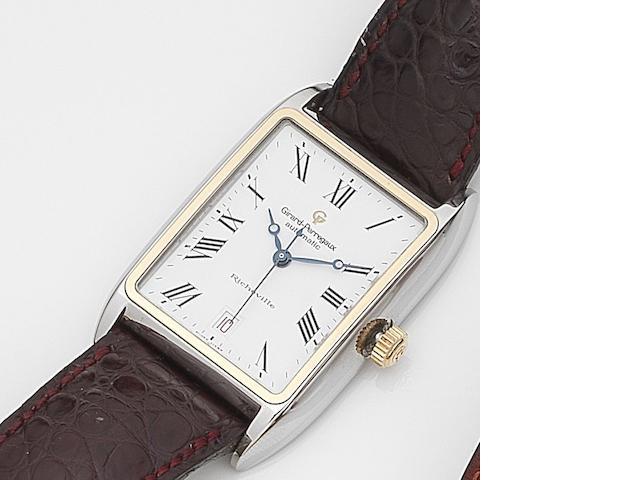 Girard-Perregaux. A stainless steel automatic calendar wristwatch Richeville, Ref:2510, Case No.BR-231, Circa 2000