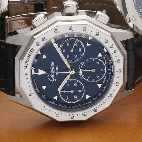 Glashütte Original. A stainless steel automatic chronograph wristwatch Case No.1243, Movement No.12811, Circa 2000