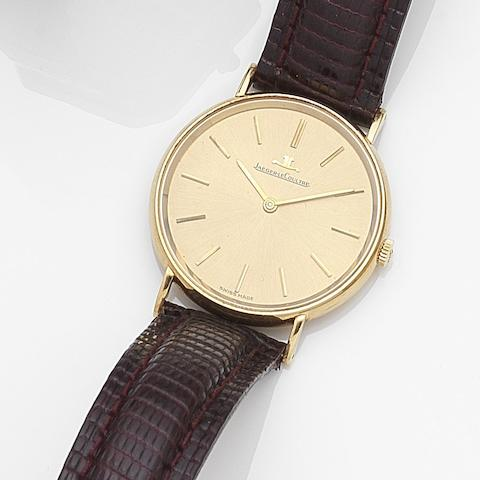Jaeger-LeCoultre. An 18ct gold manual wind wristwatch Ref:1400951, Case No.912321, Movement No.2200075, Circa 1971