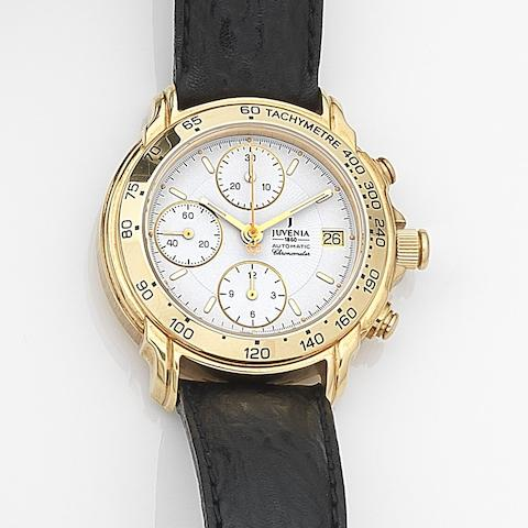 Juvenia. An 18ct gold automatic calendar chronograph wristwatch Ref:G5E1, Case No.050, Circa 2000