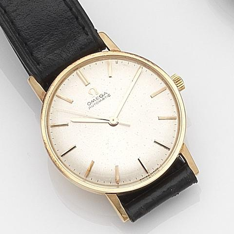 Omega. An 18ct gold automatic centre seconds wristwatch Ref:161.002, Movement No.21236681, Circa 1964