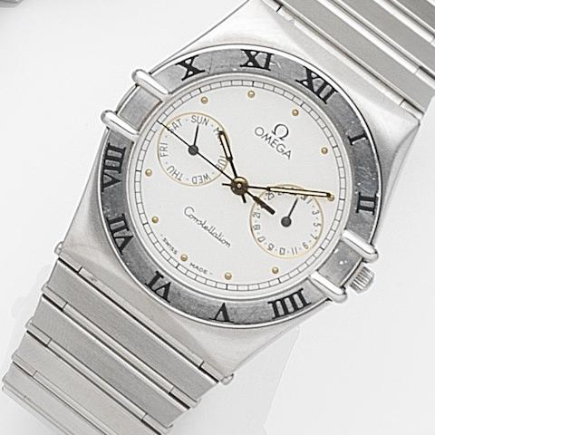 Omega. A stainless steel quartz calendar bracelet watch Constellation, Ref:396.1069, Case No.50273375, Circa 1990