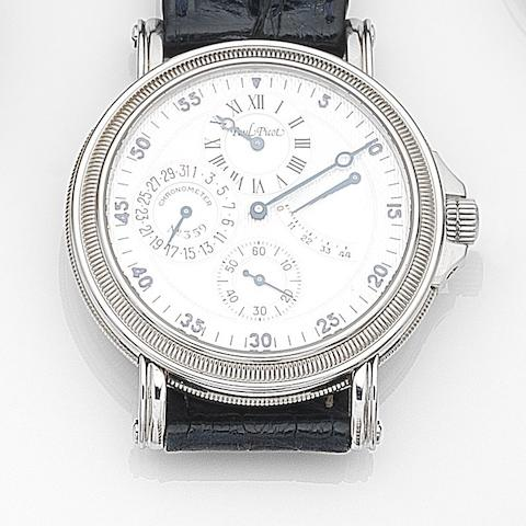 Paul Picot. A stainless steel automatic regulator calendar wristwatch with power reserve indicator Ref:4029, Case No.359, Circa 2000