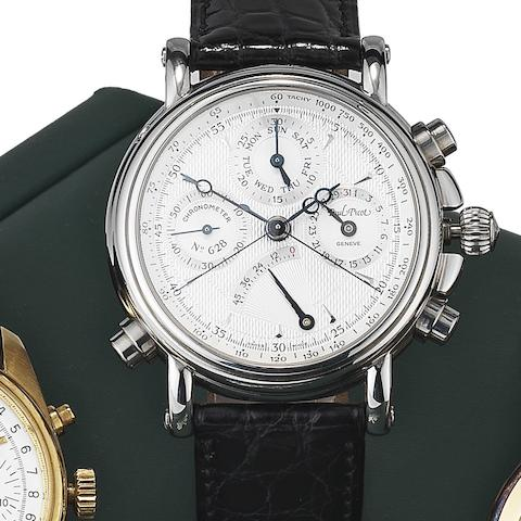 Paul Picot. A stainless steel automatic split seconds chronograph wristwatch with power reserve indicatorTechnicum, Ref:628, Case No.8888-4101, Circa 2005