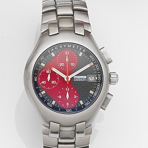 Momo Design. A stainless steel automatic calendar chronograph bracelet watch Ref:MD-005, Case No.0303, Circa 2000
