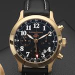 Schwarz Etienne. An 18ct gold automatic dual timezone chronograph wristwatch GMT, Case No.231502, Circa 2005
