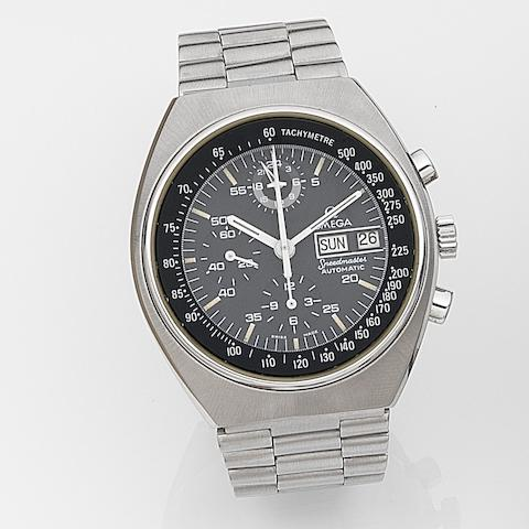 Omega. A stainless steel automatic calendar chronograph bracelet watchSpeedmaster Automatic, Ref:176.0012, Movement No.39198993, Circa 1985