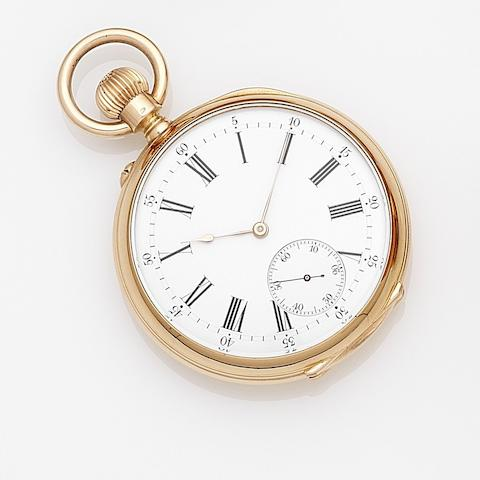 Vacheron Constantin. An 18ct gold keyless wind open face pocket watch Case No.171049, Movement No. 282865, Made 1905