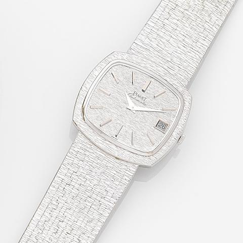 Piaget. An 18ct white gold automatic bracelet watch Ref:13431 AG, Case No.184076, Movement No.704646, Circa 1975