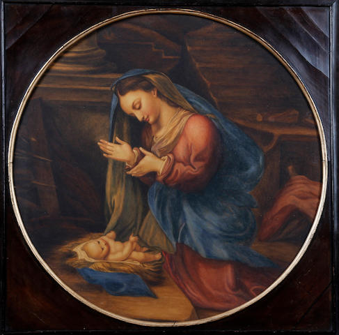 British School, (early 19th century) Madonna and Child, after the Italian Renaissance 56cm diam.