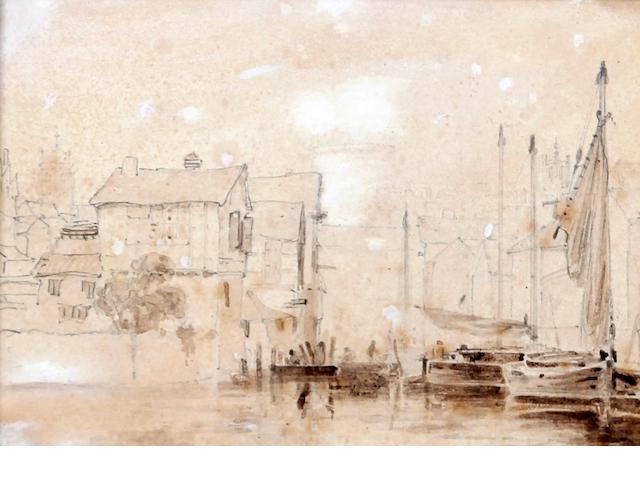 Henry Ninham (British, 1783-1874) 'On the Wensum, Norwich'