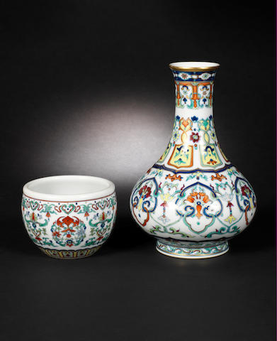 Two doucai pieces