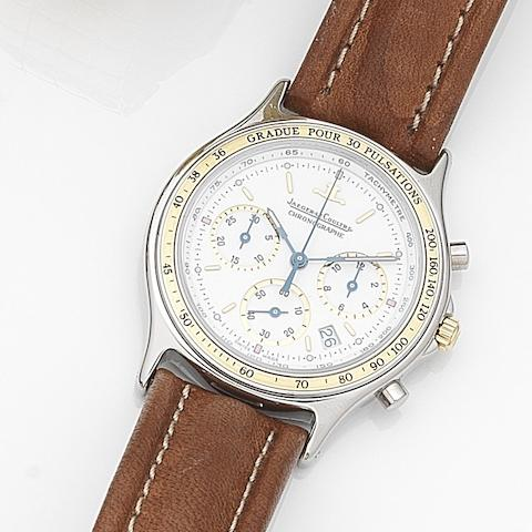 Jaeger-LeCoultre. A stainless steel quartz calendar chronograph wristwatch with box and papers Heraion, Ref:1155.31, Case No.1710749, Movement No.2469312, Circa 1990