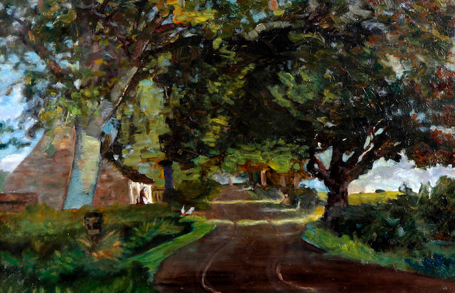 Scottish School, (Jessie Templeton, 1891) An Ayrshire country road